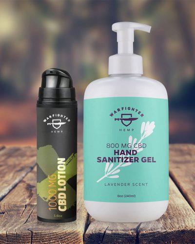 1000mg Topical Lotion + Hand Sanitizer Gel Bundle