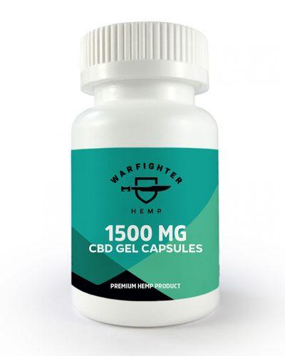 1500mg CBD per bottle - Gel Capsules