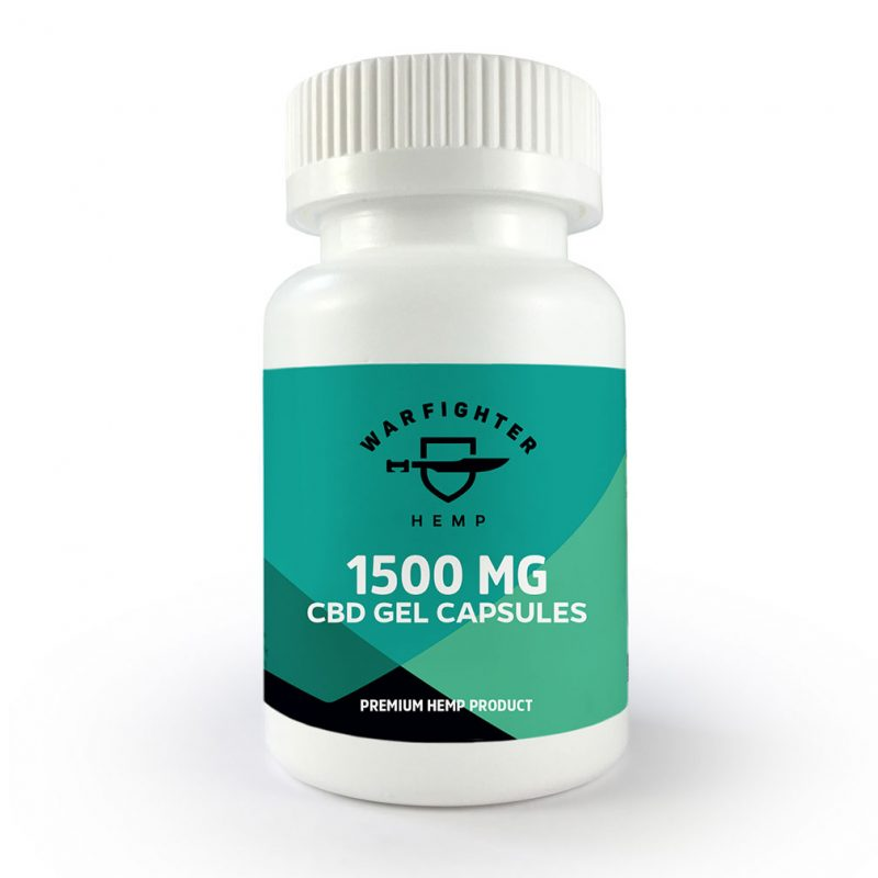 1500mg CBD per bottle - Gel Capsules