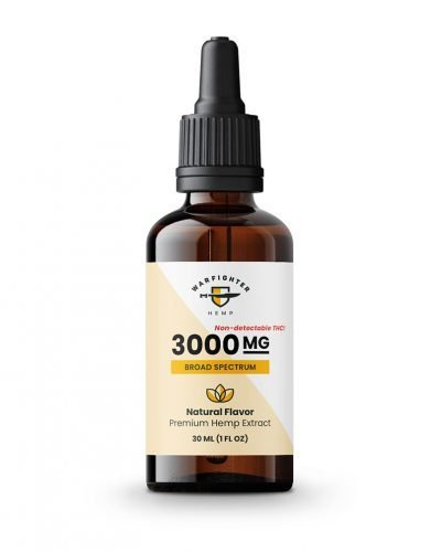 3000 mg CBD Oil Broad Spectrum Hemp Tincture - Natural