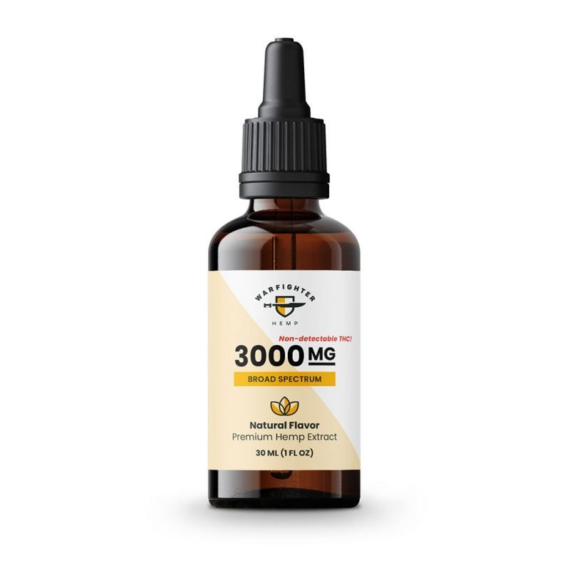 3000 mg CBD Oil Broad Spectrum Hemp Tincture - Natural