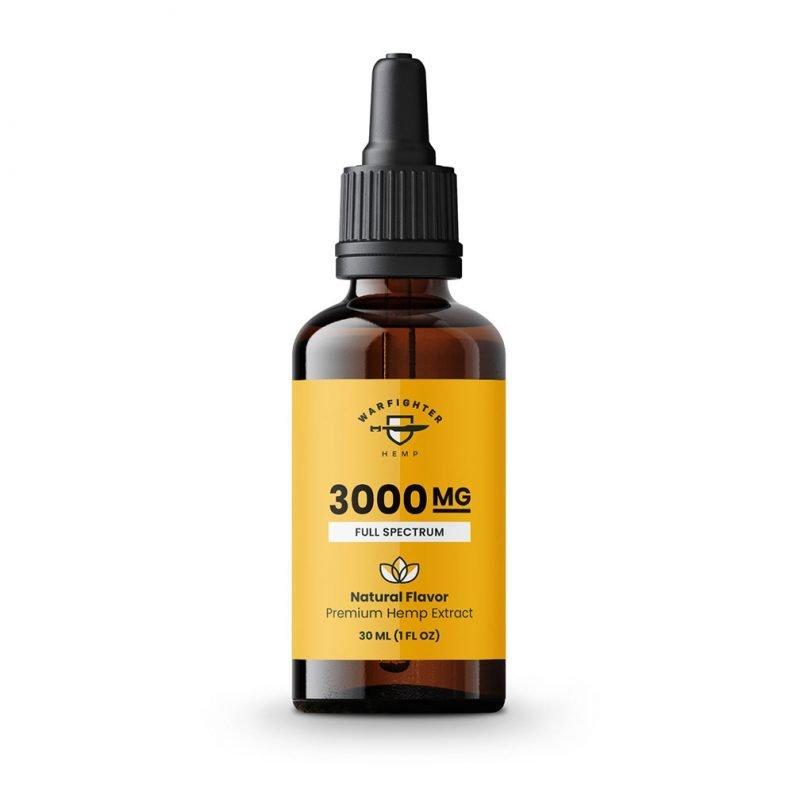3000 mg CBD Oil Full Spectrum Hemp Tincture - Natural
